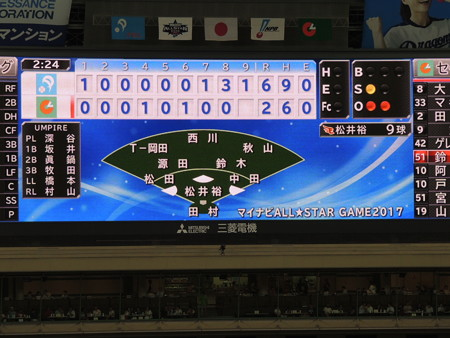 7/14(金) ナゴドでプロ野球オールスターゲームがありました(その11)・・・グランド編。