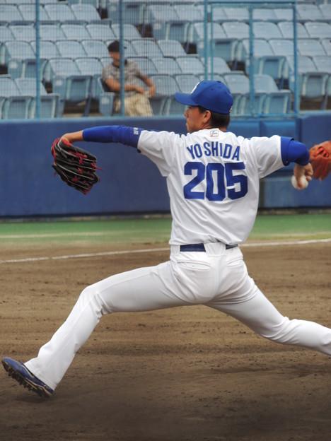 吉田投手。