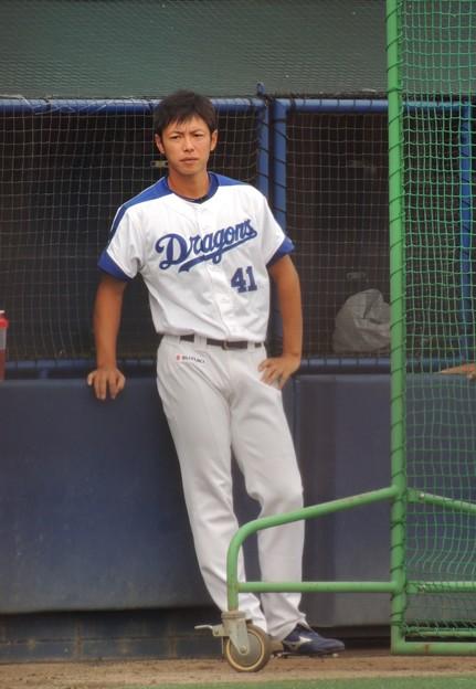 浅尾投手。