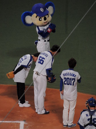 福田選手と対決でした。