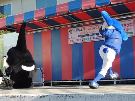 1/3(水) 岡崎中日ハウジングセンターでドアラ&グランパスくんと遊ぼうショー(その4)。