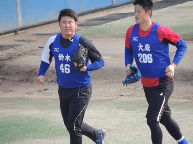 鈴木博志選手&大藏彰人選手。