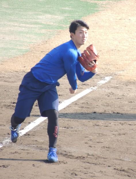 写真: 藤嶋健人選手。