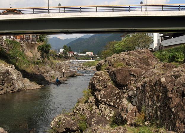 見つめる川面