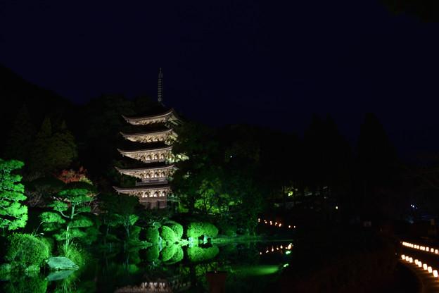 夜の五重塔 1