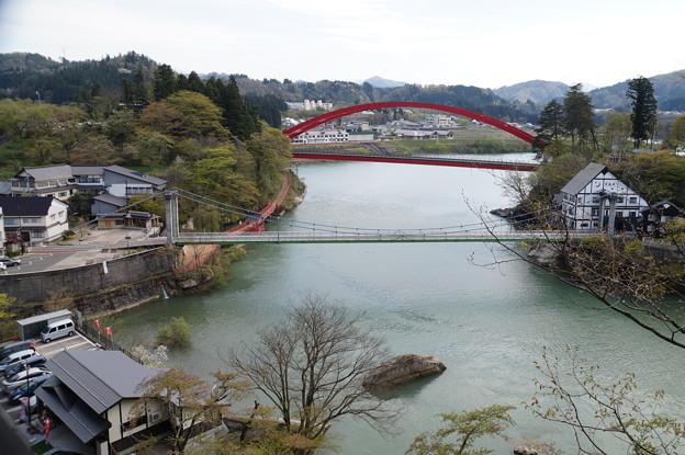 只見川に架かる橋