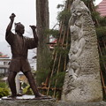 石川雲蝶の像