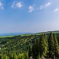写真: 亀石山から天ヶ瀬方面