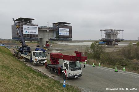 2017年4月9日、手取川橋梁(建設中)