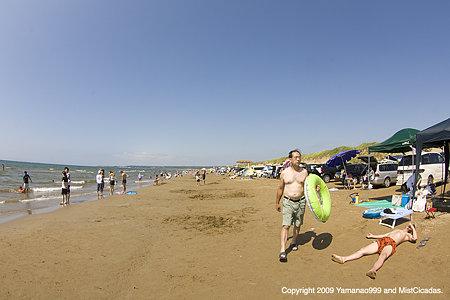 千里浜海岸の夏
