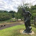 写真: 宮島峡ヴィーナス像巡り5 湖畔の像