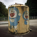 Photos: タンク再利用型バス待合所