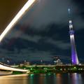 写真: 隅田川夜景