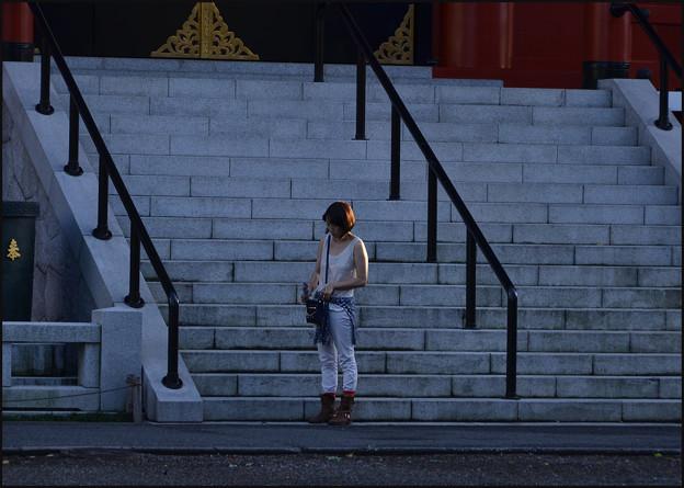 浅草寺の夕暮れ