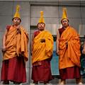 写真: チベット僧の祈り 声明のように
