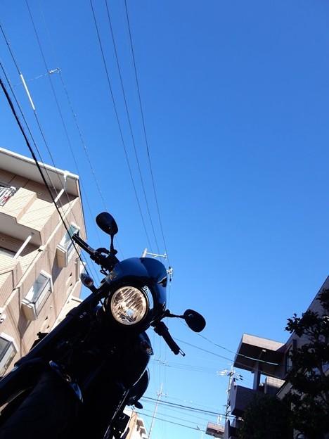 写真: 今日の出発