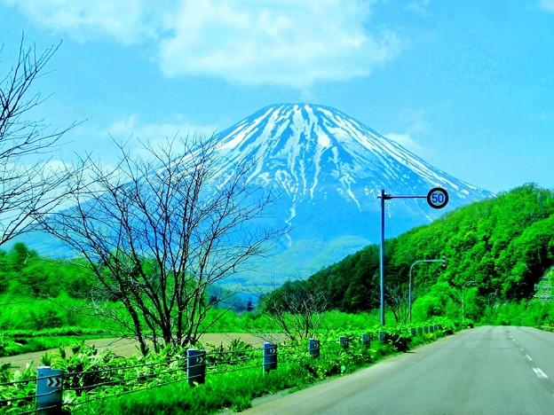 初夏の蝦夷富士~♪