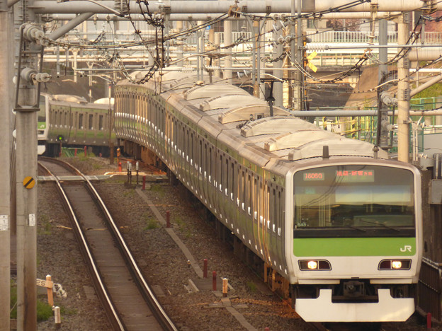 山手線内回り電車 2017.4.14