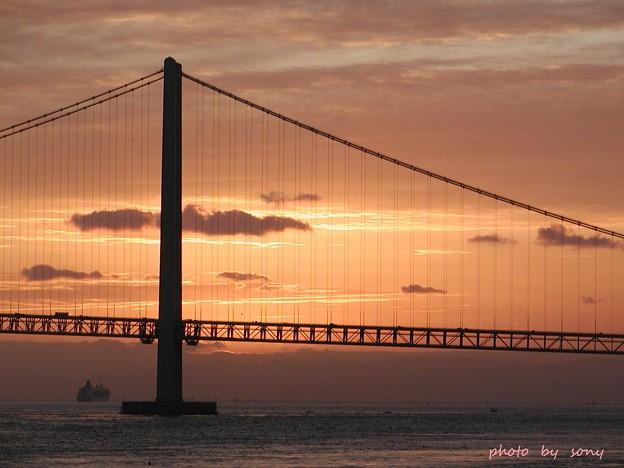 迎春、明石海峡大橋