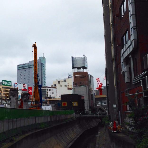 渋谷の重機。