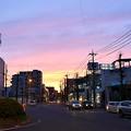 写真: 夕焼け国道