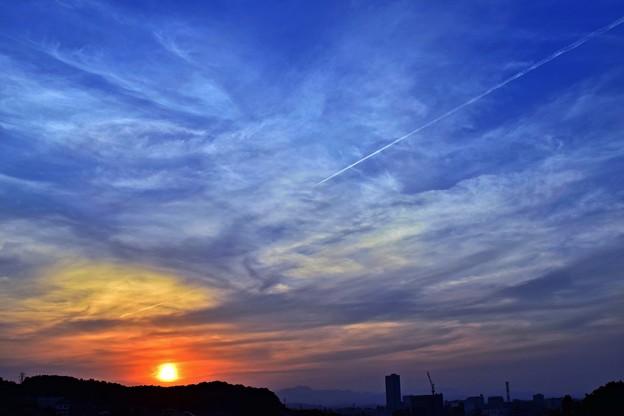 写真: 夕焼け(170521)