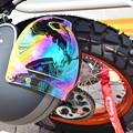 写真: Rainbow helmet