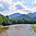 写真: 山と河と空と