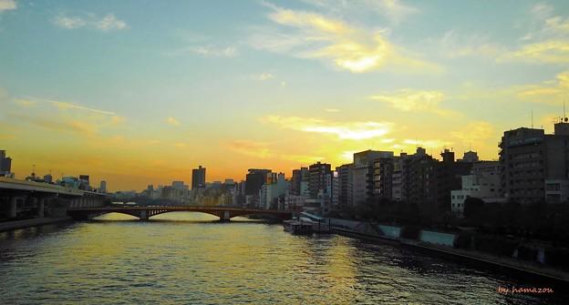 隅田川夕陽