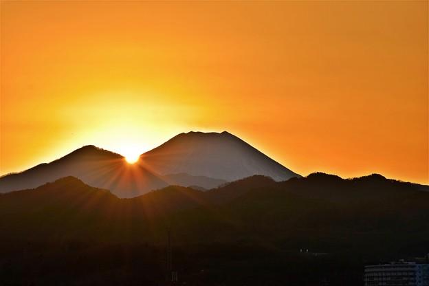 写真: 落陽富士