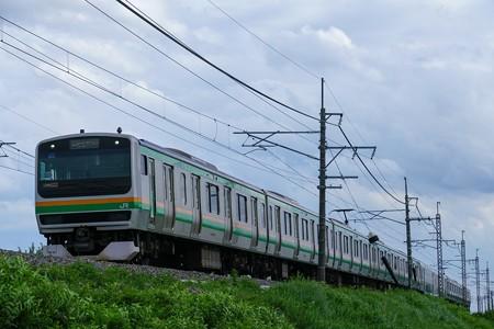 E231系@蒲須坂~片岡