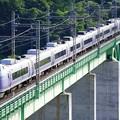 Photos: E351系特急スーパーあずさ@新桂川橋梁