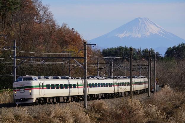 写真: 189系M52編成 茅野市民号送り込み回送@長坂~小淵沢