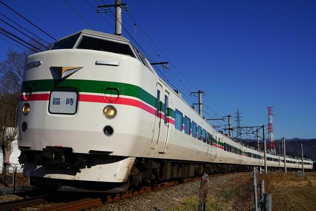 189系M52編成「快速山梨富士」@赤坂~都留市