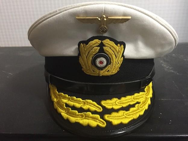 旧ドイツ海軍提督用制帽ホワイトトップ