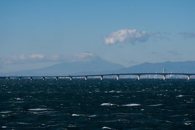 袖ヶ浦海浜公園【アクアラインと富士山】