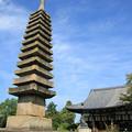 写真: IMG_6708般若寺・十三重石塔(重要文化財)と本堂