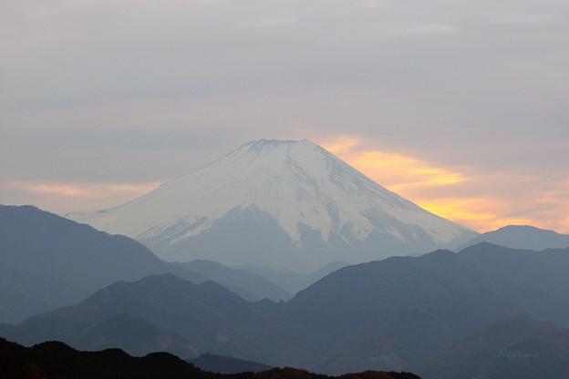 写真: 遙望富士山
