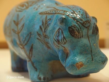 ルーブル美術館 エジプト美術 青カバ P4240229