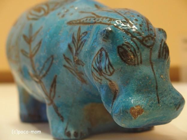 写真: 青カバ ルーヴル美術館 エジプト美術 青カバ P4240229