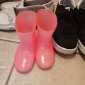 写真: 孫の長靴 P7301242