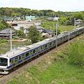 Photos: 春の常盤路を行くE531系