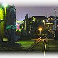 夜の関東鉄道竜ヶ崎線 車両基地