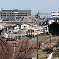竜ヶ崎駅と車両基地