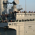 護衛艦しまかぜ 艦橋(国際観艦式予行)