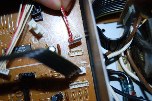 写真: XP-50 エクスパンションボード部分コード接続確認用2
