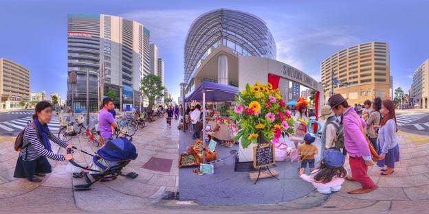 シズオカ×カンヌウイーク2017 「アトサキマルシェ」七間町会場 360度パノラマ写真 HDR