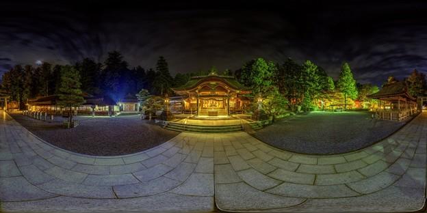 森町 小国神社 夜景 360度パノラマ写真