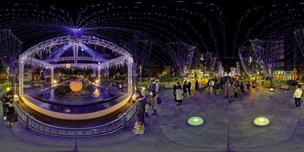 青葉シンボルロード イルミネーション 360度パノラマ写真〈1〉