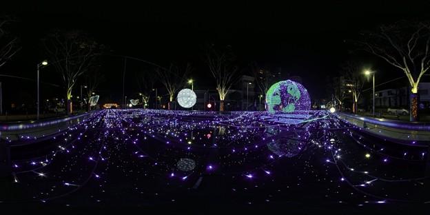 青葉シンボルロード イルミネーション 360度パノラマ写真〈5〉